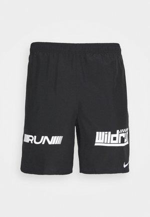 Pantalón corto de deporte - black/white/silver