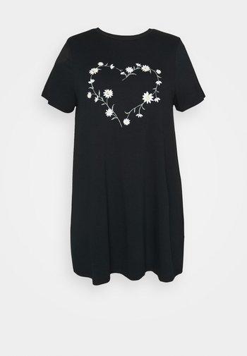 DAISY HEART - Print T-shirt - black