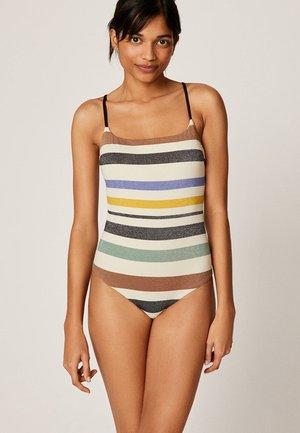 MIT STREIFEN - Swimsuit - off-white
