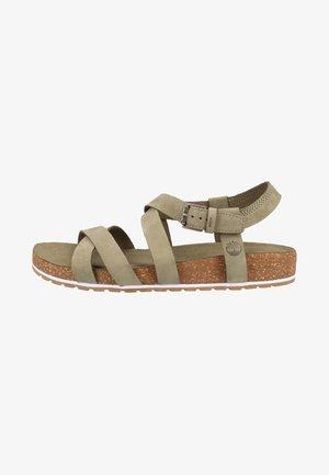 Sandály na platformě - olive
