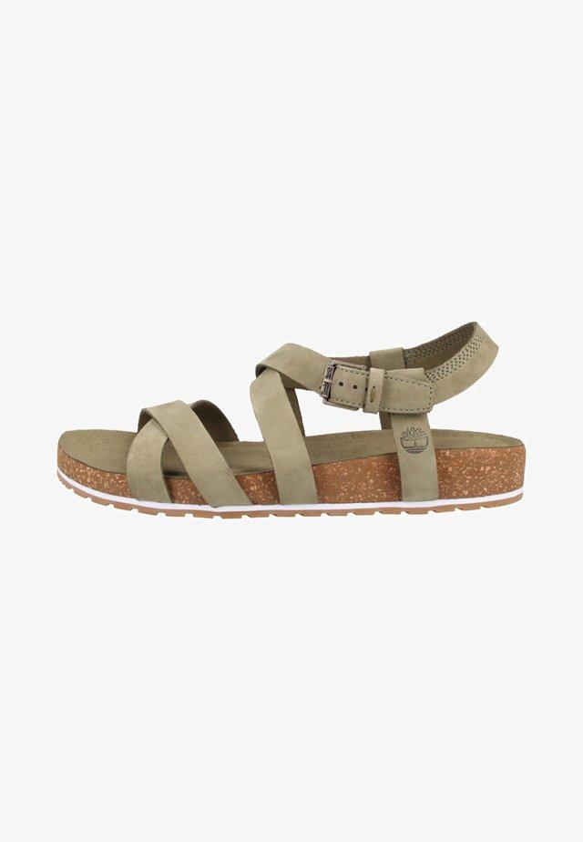 Platform sandals - olive