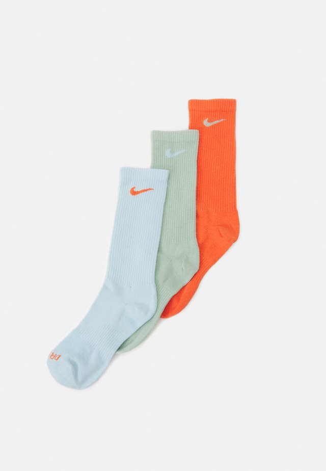 EVERYDAY PLUS CREW 3 PACK UNISEX - Chaussettes de sport - blue/orange