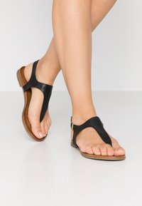 Anna Field - LEATHER - T-bar sandals - black - 0