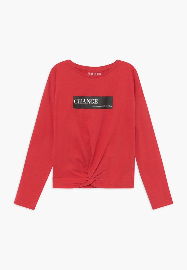 TEENS FUTURE CHANGE - Camiseta de manga larga - rot