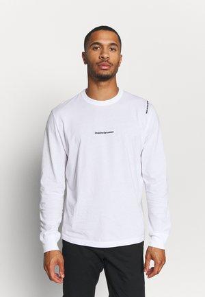 VIBE TEE - Camiseta de manga larga - white