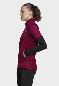 adidas Performance - AGRAVIC XC WINTER X-COUNTRY SKIING VEST - Waistcoat - burgundy - 4