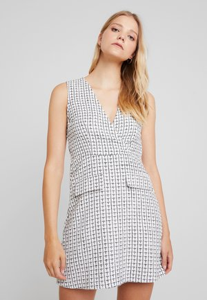 TAILORED PINNY - Day dress - white