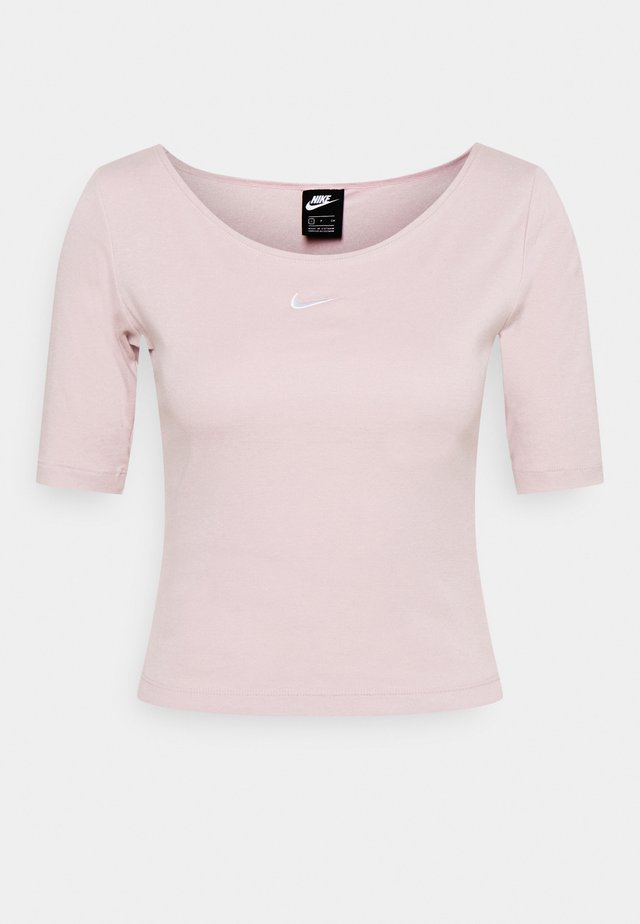 SCOOP - Basic T-shirt - champagne/white