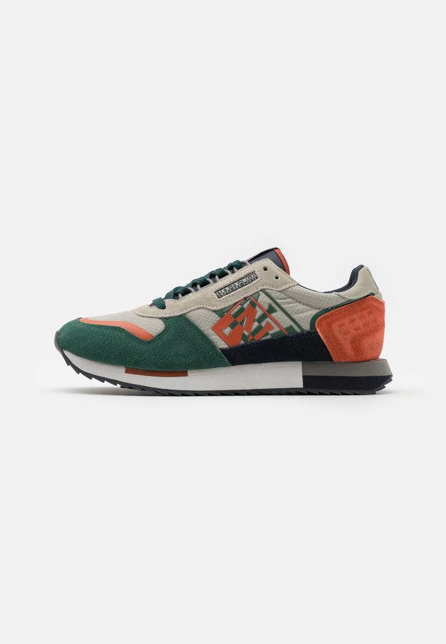 Baskets basses - grey/green/orange