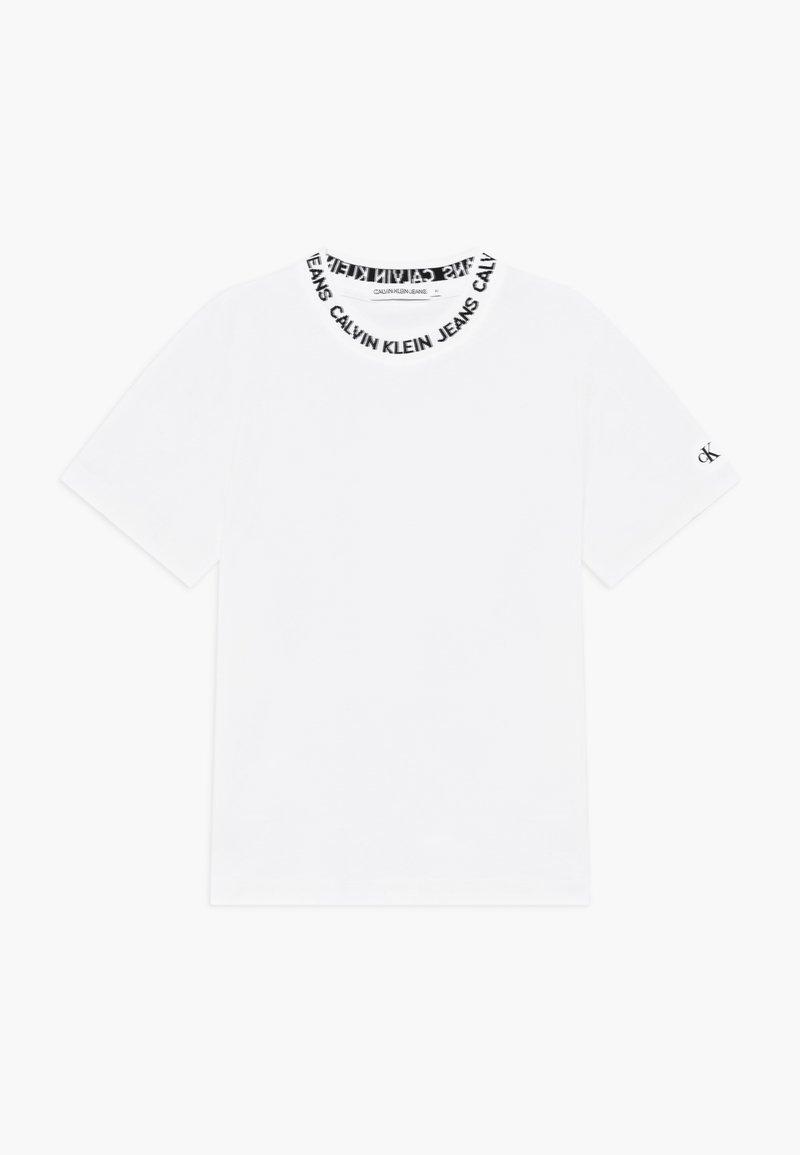 Calvin Klein Jeans - LOGO INTARSIA - T-shirt con stampa - white