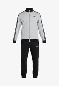adidas Performance - ESSENTIALS SPORT COTTON TRACKSUIT - Chándal - medium grey heather/black