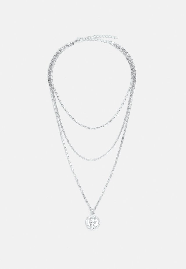 LAYERING AMULET NECKLACE UNISEX - Necklace - silver-coloured