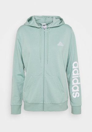 Zip-up hoodie - haze green/white