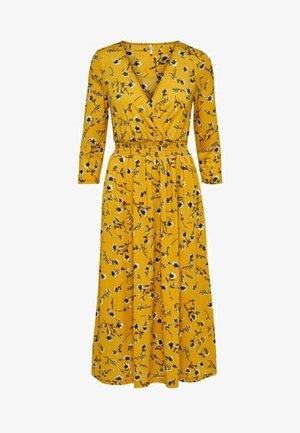 Maxiklänning - mottled dark yellow