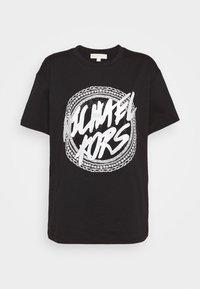 MICHAEL Michael Kors - CHAIN GLITTER LOGO TEE - T-shirts med print - black/silver - 5