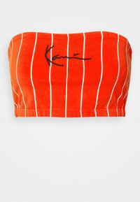 Karl Kani - SMALL SIGNATURE PINSTRIPE BANDEU - Top - red - 5