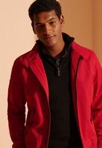 Superdry - HARRINGTON - Summer jacket - red - 1