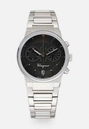 Zegarek chronograficzny - silver-coloured/black