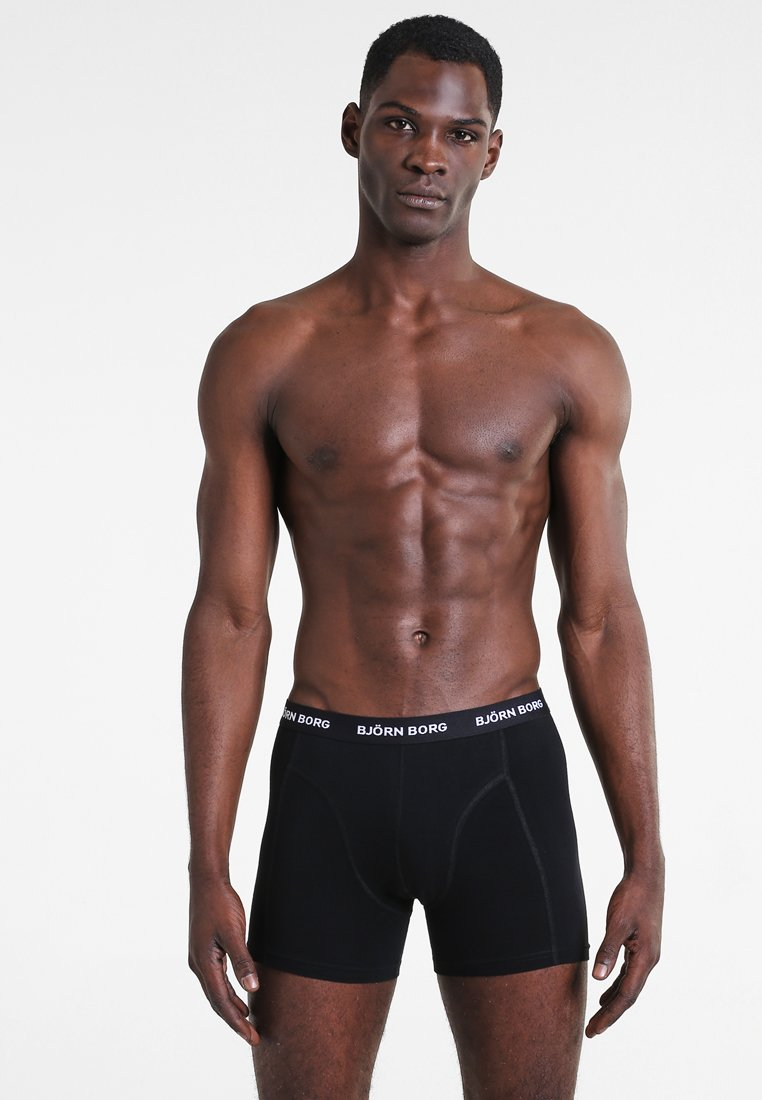 Björn Borg - SHORTS SOLIDS 3 PACK - Underkläder - black
