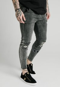 SIKSILK - BURST KNEE - Jeans Skinny Fit - washed black - 3