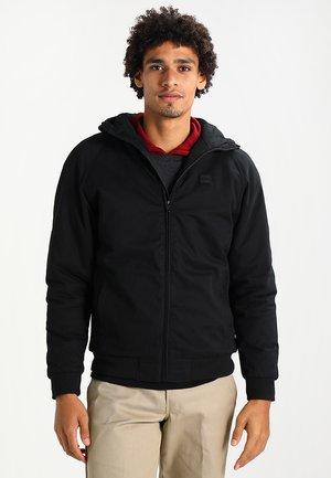 LINED ZIP HOODY  - Light jacket - schwarz
