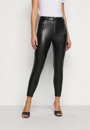 FLISS BIKER  - Leggings - Trousers - black