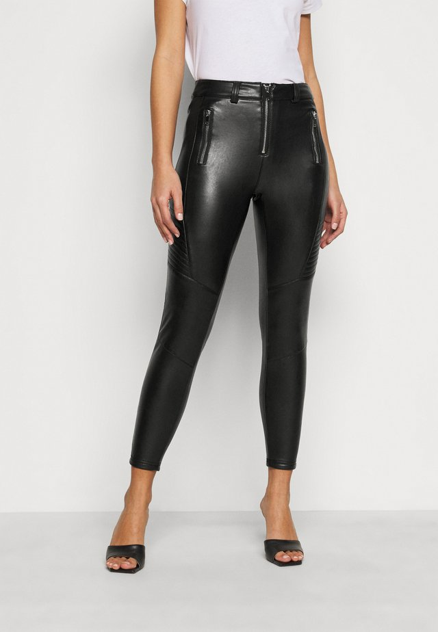 FLISS BIKER  - Leggings - black