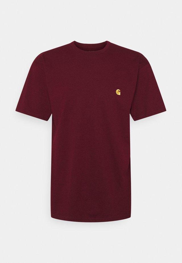 CHASE - T-shirt basic - jam/gold