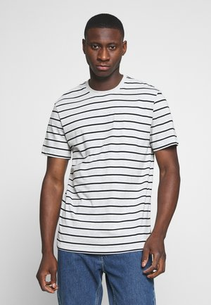 ONSMEL LIFE STRIPE TEE - T-shirt med print - light grey