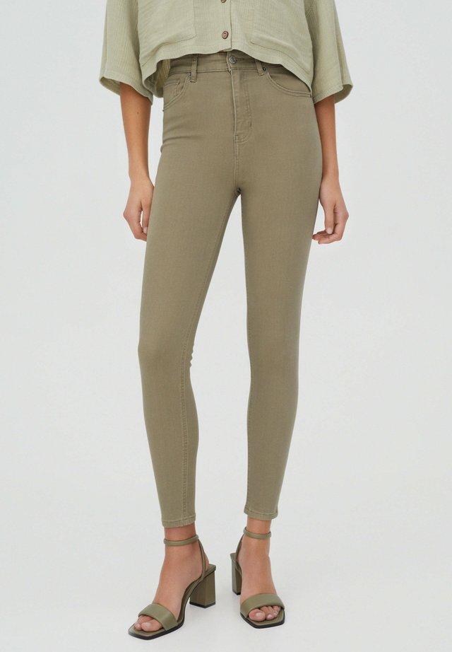 Skinny džíny - khaki