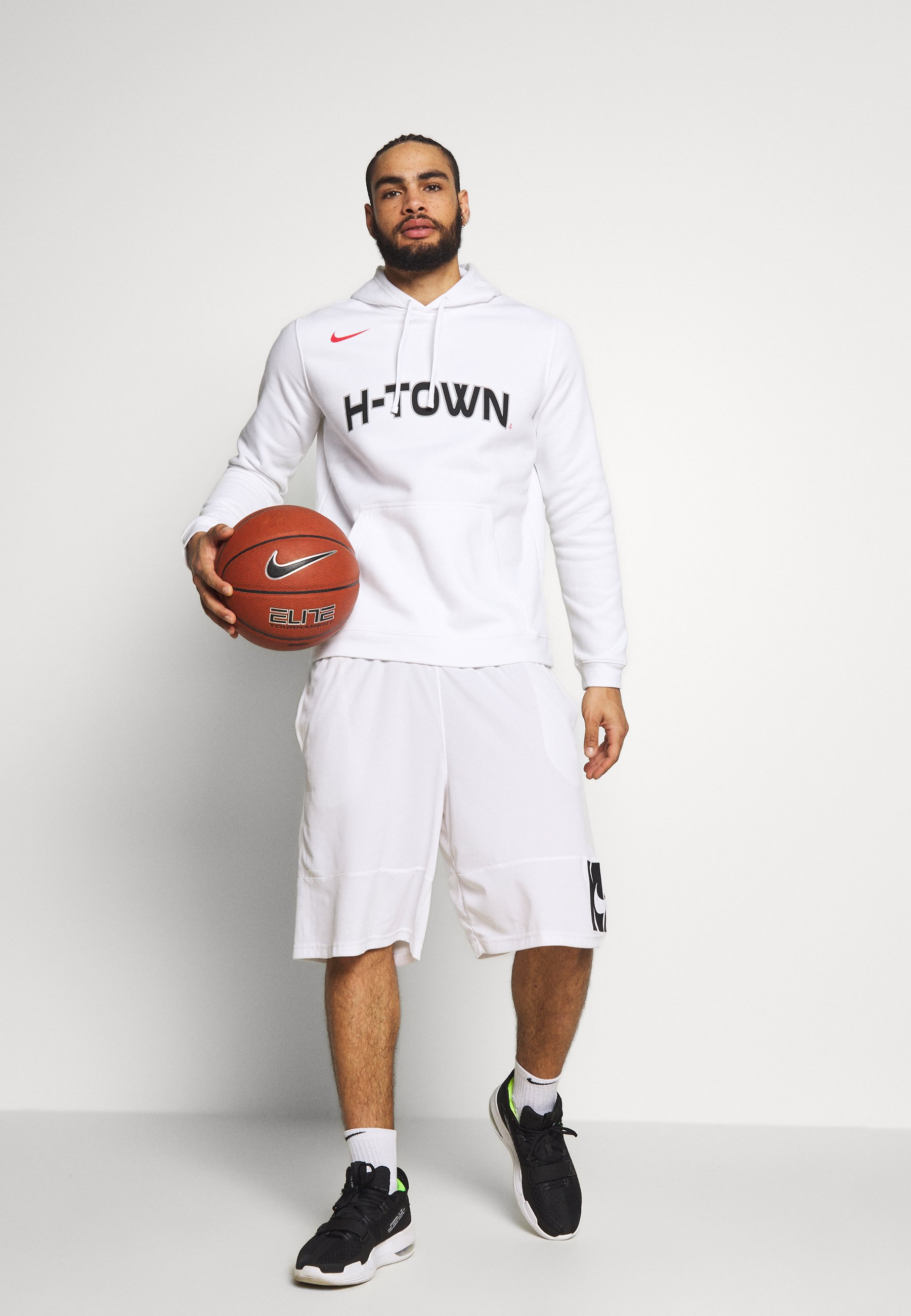 Nike Performance NBA HOUSTON ROCKETS CITY EDITION LOGO HOODIE - Article de supporter - white