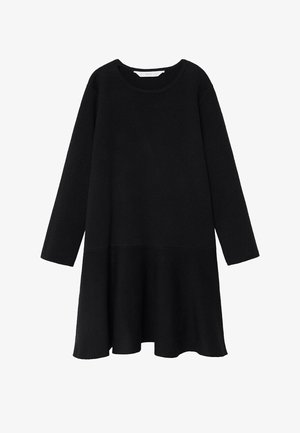 CECI - Gebreide jurk - zwart