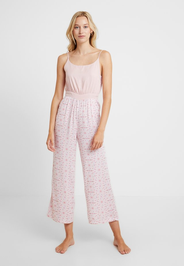 ALL IN ONE SOFT DUNGAREES - Pyjamas - pink