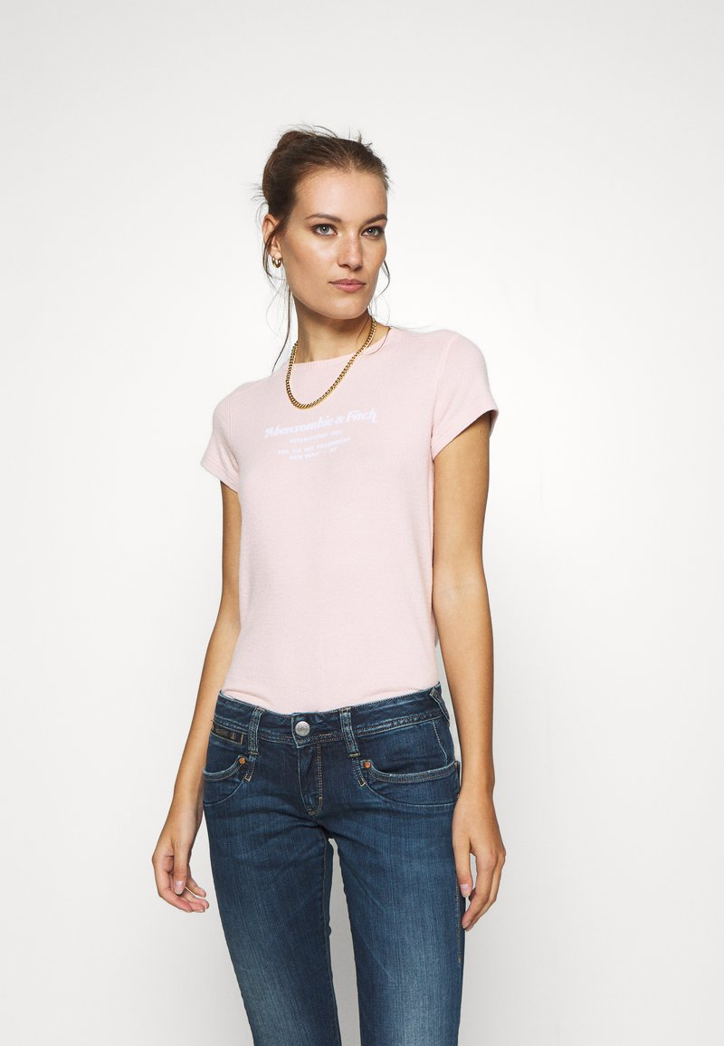 Abercrombie & Fitch - LONG LIFE LOGO - Print T-shirt - pink