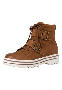 Jana - Lace-up ankle boots - cognac - 3