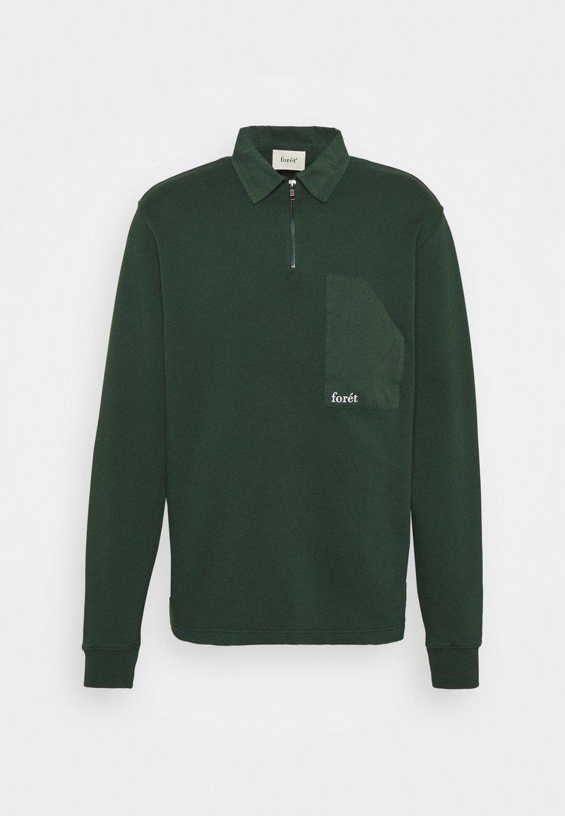 forét - Felpa aperta - dark green