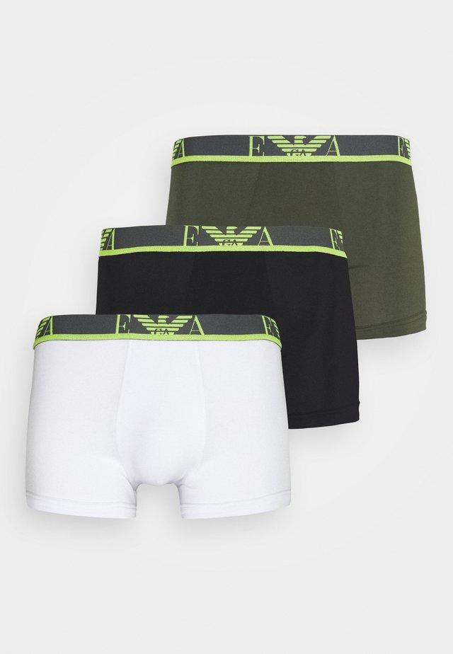 TRUNK 3 PACK - Onderbroeken - schwarz/oliv/weiß