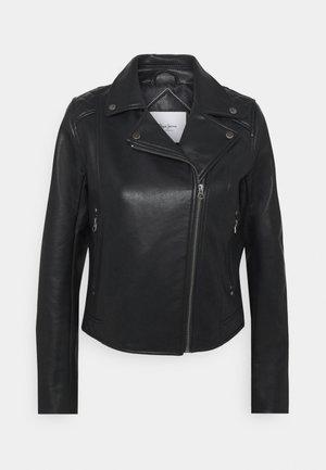 FLORES - Faux leather jacket - black