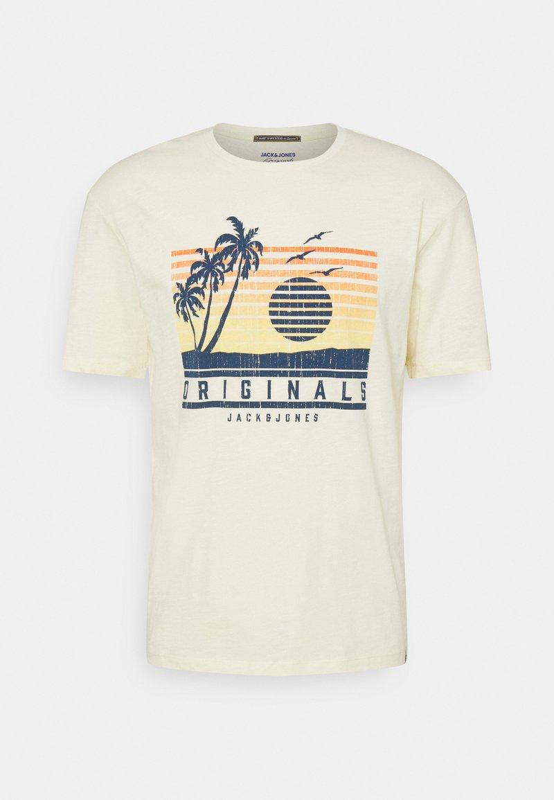 Jack & Jones - JORLAGUNA TEE CREW NECK - Print T-shirt - seedpearl