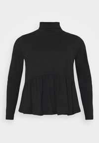 Pieces Curve - PCSERENE ROLL NECK - Long sleeved top - black - 4