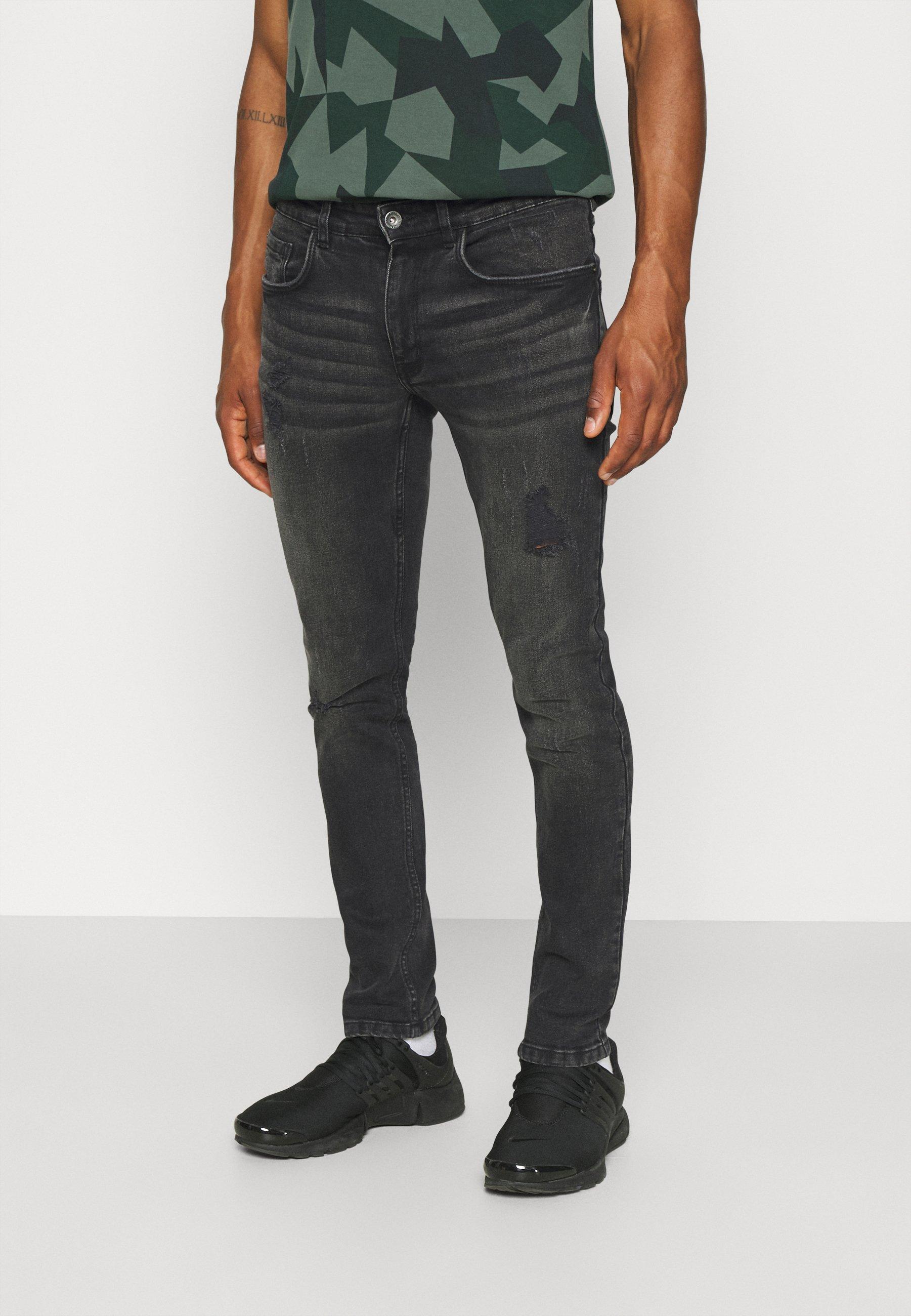 Men STOCKHOLM DESTROY - Jeans Tapered Fit