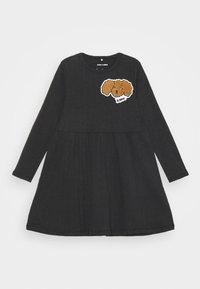 Mini Rodini - FLUFFY DOG PATCH DRESS - Jersey dress - black - 0