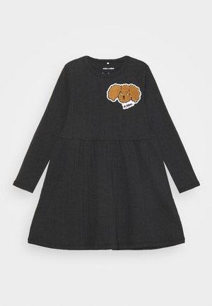 FLUFFY DOG PATCH DRESS - Vestito di maglina - black