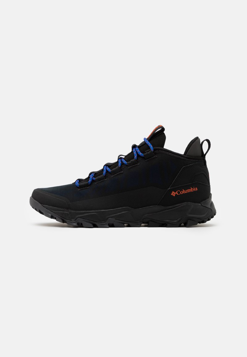 Columbia - FLOWBOROUGH LOW - Hiking shoes - black/tangy orange