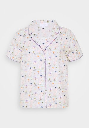 POPLIN - Pyjama top - white/green