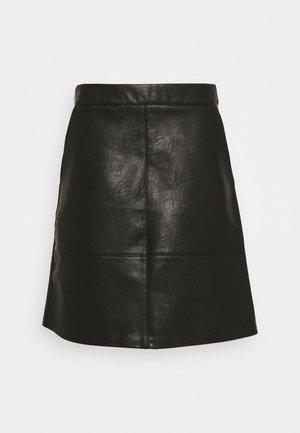 ONLLISA SKIRT - Mini skirt - black