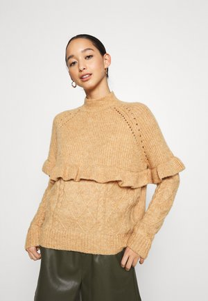 VMNAHI HIGHNECK - Jumper - tan
