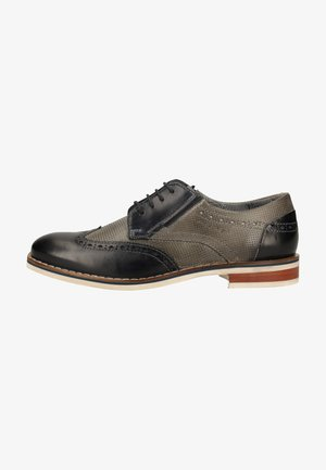 Smart lace-ups - light grey/dark blue
