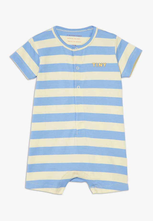 TINY STRIPES ONE-PIECE - Jumpsuit - lemonade/cerulean blue