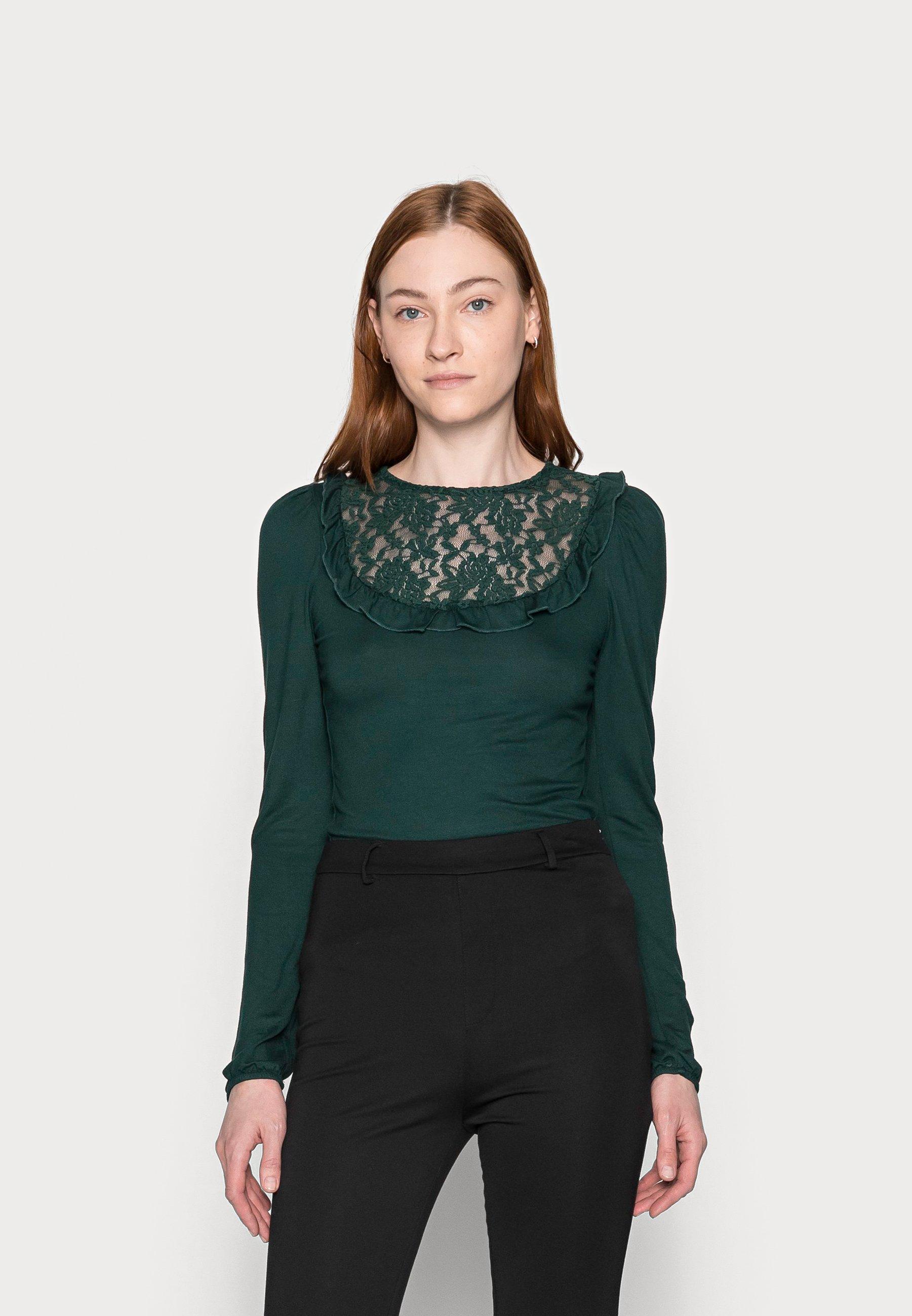 Women INSERT FRILL  - Long sleeved top